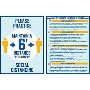 Social Distancing Paper Wall Signs Units per case: 48