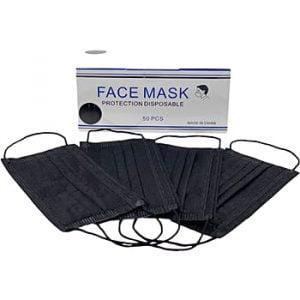 Black Non-Medical 4-Ply Ear Loop Mask 100 units .84 cents